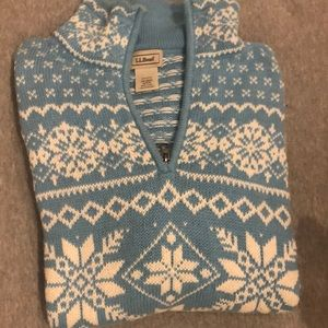 Good condition, lightblue and white Cotten sweater